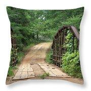 Spring At The Old Bridge Throw Pillow