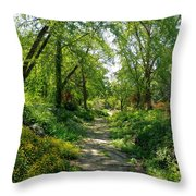 Spring At The Urban Oasis Portrait Throw Pillow