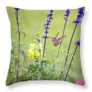 Spring Beauties In The Garden Throw Pillow