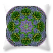 Spring Bloom Colors Mandala Throw Pillow by Beth Sawickie