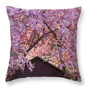 Spring Blossom Canopy Throw Pillow