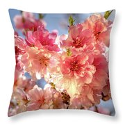 Spring Blossoms Throw Pillow