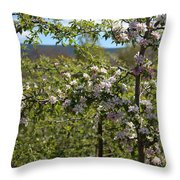 Spring Blossoms Day Throw Pillow