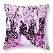 Blossoms  Of Life  Throw Pillow