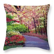 Spring Blossoms Impressions Throw Pillow