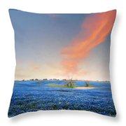 Spring Bluebonnets In Texas Throw Pillow