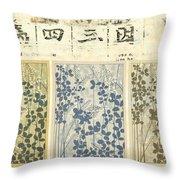 Spring Botanical Design Throw Pillow by Carol Leigh