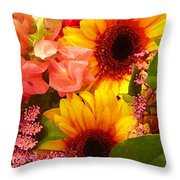 Spring Bouquet 1 Throw Pillow