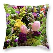 Spring Bouquet 2 Throw Pillow