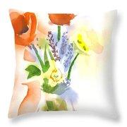 Spring Bouquet II Throw Pillow by Kip DeVore