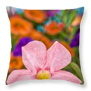 Spring Bouquet Throw Pillow by Louis Rivera