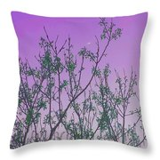 Spring Branches Lavender Throw Pillow