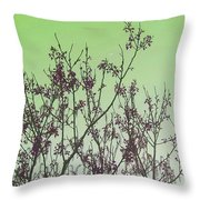 Spring Branches Mint Throw Pillow