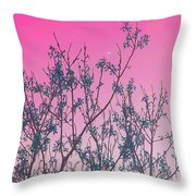 Spring Branches Rose Throw Pillow