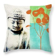 Spring Buddha Throw Pillow