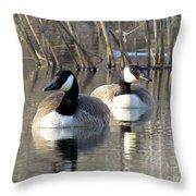 Spring Canadians Throw Pillow