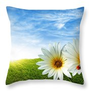 Spring Throw Pillow by Carlos Caetano