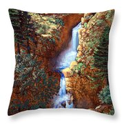 Spring Cascade Throw Pillow
