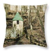 Spring Castle - Rock Island Park Tn Art 585 Throw Pillow