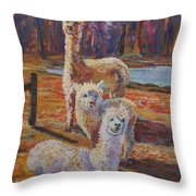 Spring Celebration - Mothers And Child Throw Pillow