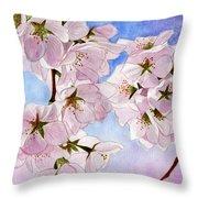 Spring- Cherry Blossom Throw Pillow