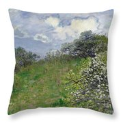 Spring Throw Pillow by Claude Monet