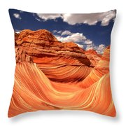 Spring Clouds Over The Wave Throw Pillow