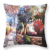 Spring Colors Throw Pillow