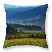 Spring Colors In Caves Cove Throw Pillow