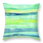 Spring Colors Pattern Horizontal Stripes Throw Pillow