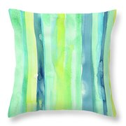 Spring Colors Stripes Pattern Vertical Throw Pillow