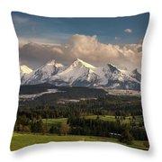 Spring Comes To The High Tatra Mountains In Poland Throw Pillow