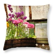 Spring Conservatory Throw Pillow