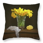 Spring Daffodil Flowers Throw Pillow