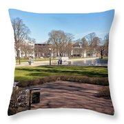 Spring Day At The Park Throw Pillow