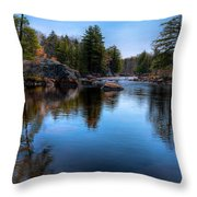 Spring Day On The River Throw Pillow