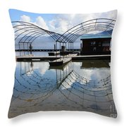 Spring Docks On Priest Lake Throw Pillow