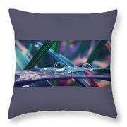 Spring Droplet Throw Pillow