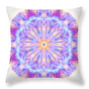 Spring Energy Mandala 3 Throw Pillow by Beth Sawickie