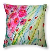 Spring Fantacy Throw Pillow