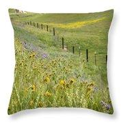 Spring Fenceline Fantasy Throw Pillow