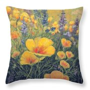 Spring Field Of Flowers Throw Pillow