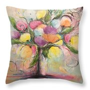 Spring Fling Flowers In A Vase Throw Pillow
