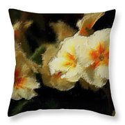 Spring Floral Throw Pillow by David Lane