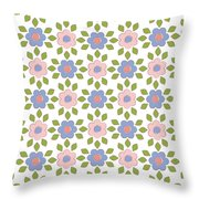 Spring Floral Pattern Textiles Throw Pillow