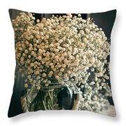 Spring Flower Arrangement Throw Pillow