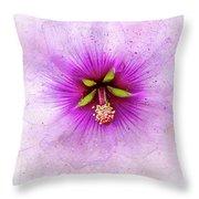 Spring Flower Frill Throw Pillow