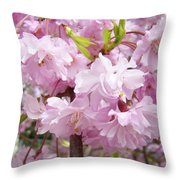 Spring Flowering Trees Art Prints Pink Flower Blossoms Baslee Throw Pillow