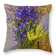 Spring Flowers For Sale Throw Pillow