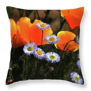 Spring Flowers In Payson Arizona Throw Pillow
